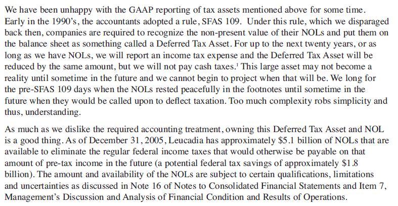 NOL, Deferred Tax Assets